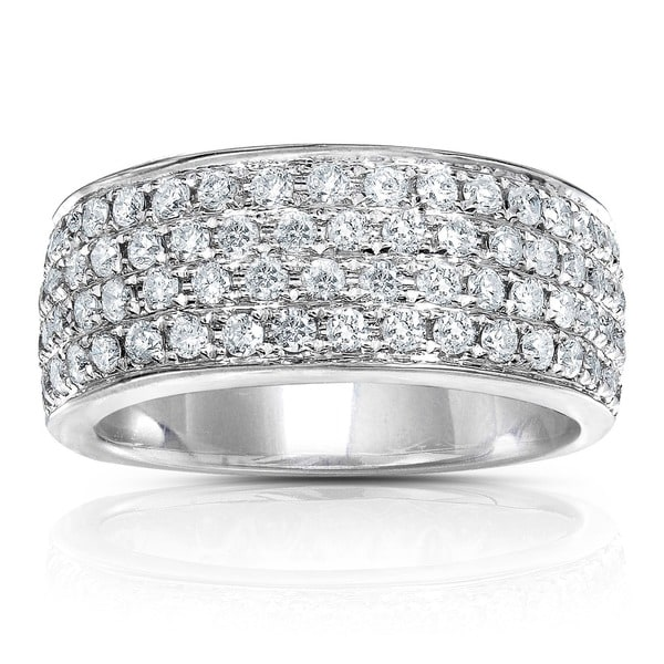 Annello by Kobelli 14k White Gold 1ct TDW White Diamond Band (H-I, I1-I2) - White H-I