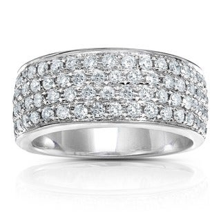 Annello by Kobelli 14k Gold 1ct TDW Diamond Pave Band and Gift Box (H-I, I1-I2)