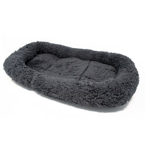 ALEKO Soft Plush Pet Bed Cushion 20 x 12 x 2 inches Charcoal Gray