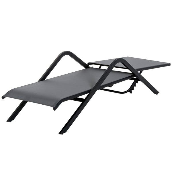 Fabulous Shop Outsunny Steel Mesh Adjustable Folding Outdoor Chaise Gmtry Best Dining Table And Chair Ideas Images Gmtryco