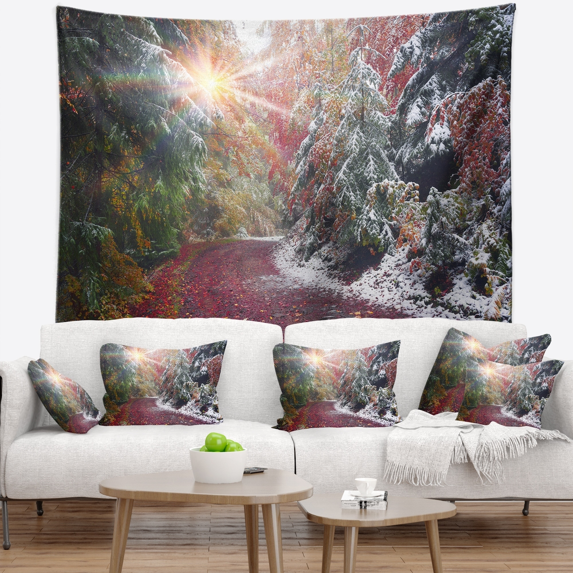 Designart Breathtaking View Of Aline Forest Landscape Photography Wall Tapestry Overstock 22355812