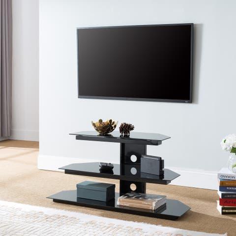 Owens Black Corner TV Stand