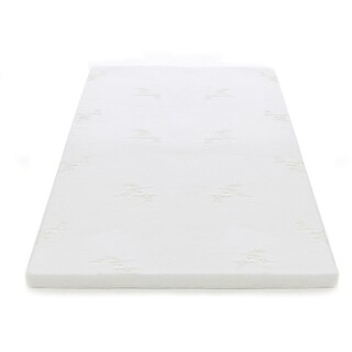 """Milliard 2"""" Gel Memory Foam Mattress Topper with Removable and Washable Cover (3 options available)"""