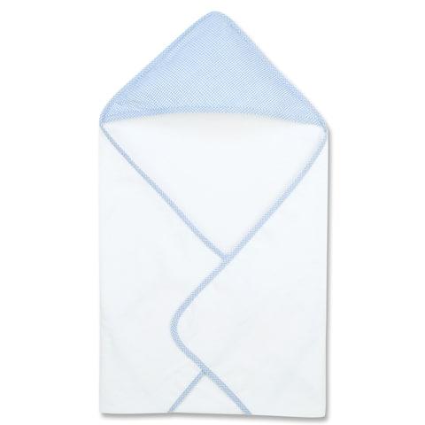 Blue Gingham Seersucker Deluxe Hooded Towel