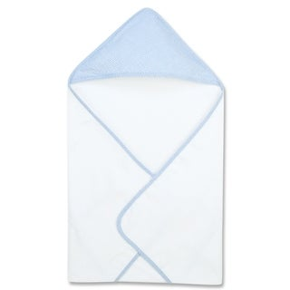 Blue Gingham Seersucker Deluxe Hooded Towel