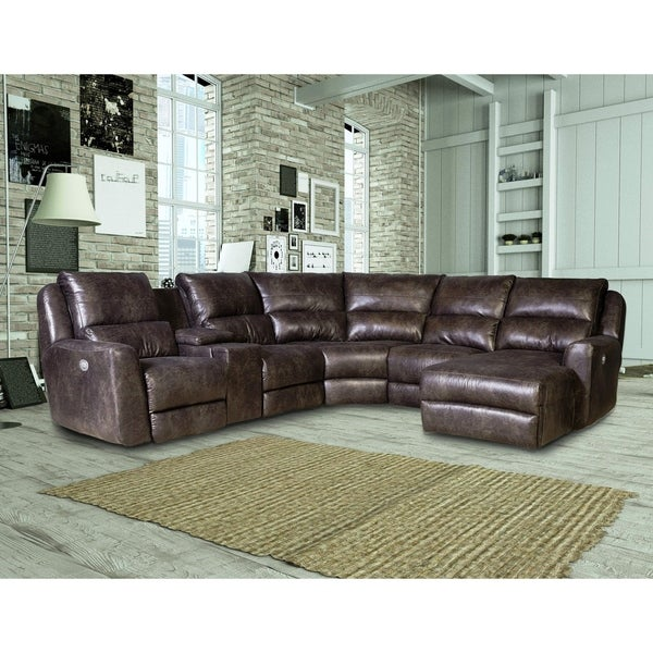 Shop Southern Motion Producer Grey Faux Leather Power Reclining ...