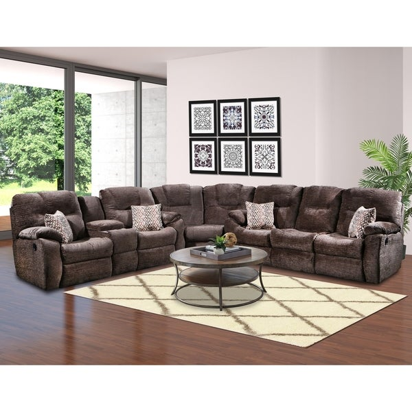 Shop Southern Motion Avalon Brown Reclining Sectional Sofa Free
