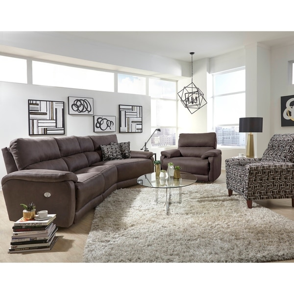 Shop Southern Motion Power Reclining Sectional Sofa Free Shipping