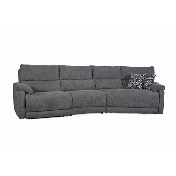Merveilleux Southern Motionu0026#x27;s Top Secret Grey Microfiber Power Reclining Sectional  Sofa