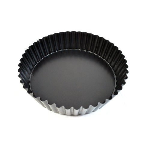 Deep Non-Stick Fluted Tart Pan with Removable Bottom, 9 1/2in