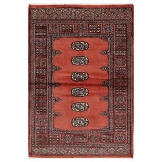 Handmade Bokhara Wool Rug (Pakistan) - 3'2 x 4'9