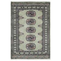 Handmade Herat Oriental Pakistani Hand-knotted Bokhara Wool Rug (2' x 3')