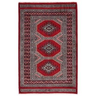 Handmade One-of-a-Kind Bokhara Wool Rug (Pakistan) - 2'1 x 3'3