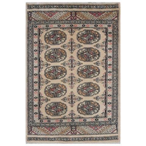 Handmade One-of-a-Kind Bokhara Wool Rug (Pakistan) - 2' x 3'