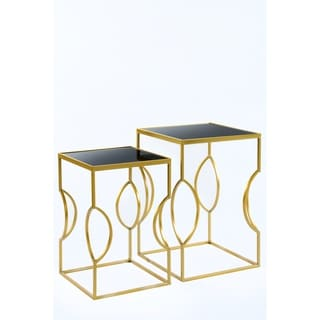 Statements By J Clemence Side Tables, Set of 2, 24 and 21 Inch Tall