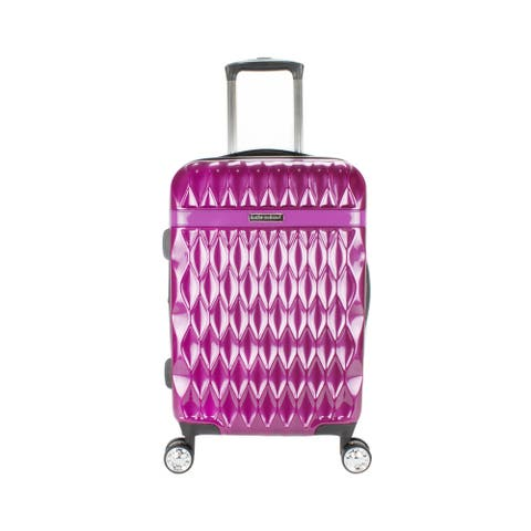 Kathy Ireland Kelly Purple 22-inch Carry On Hardside Spinner Suitcase - 10.0 In. X 13.8 In. X 23.0 In.