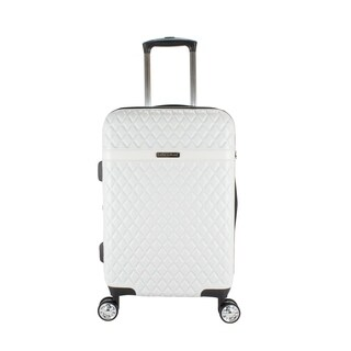 Kathy Ireland Yasmine Pearl White 22-inch Carry On Hardside Spinner Suitcase