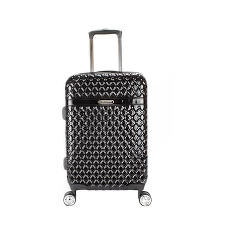 Kathy Ireland Yasmine Black 22-inch Carry On Hardside Spinner Suitcase - 10.0 In. X 14.0 In. X 23.0 In.