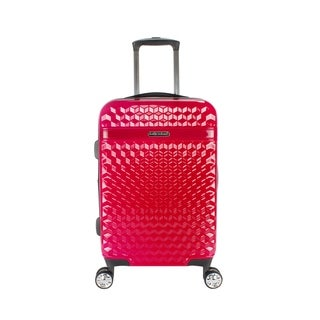 """Kathy Ireland Audrey 22"""" Hardside Spinner in Red"""