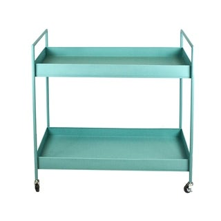Sagebrook Home METAL BAR CART, TEAL