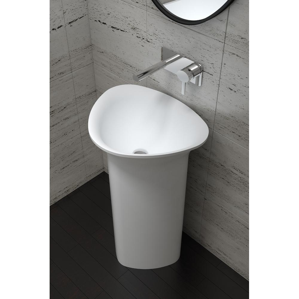 21 034 polystone free standing bathroom sink in