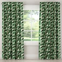 Skyline Furniture Unlined Curtain in Banana Palm Natural