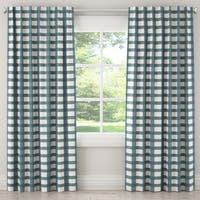 Skyline Furniture Unlined Curtain in Buffalo Square
