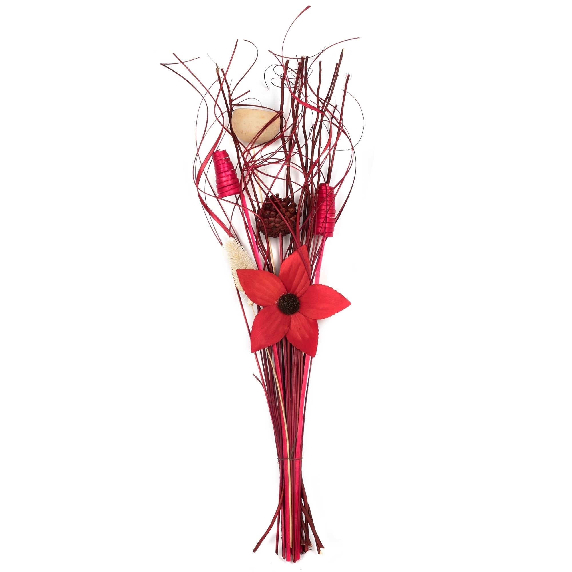 Dried Floral Bouquet Burgundy Red Overstock 22357842
