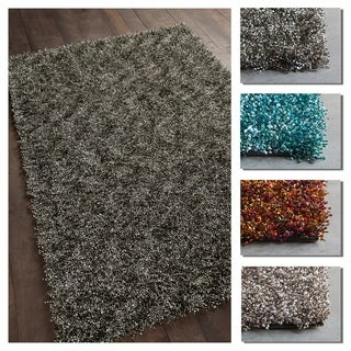 Artist's Loom Alexia Collection Handwoven Solid Shag Area Rug - 7' x 10'