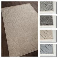 "Artist's Loom Charla Collection Hand-Knotted Geometric Shag Rug - 7'9"" x 10'6"""