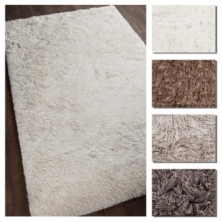 Artist's Loom Dionne Collection Hand-Woven Abstract Pattern Shag Rug