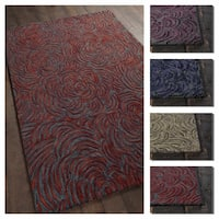 """Artist's Loom Evita Collection Hand-Tufted Floral Pattern Wool Rug - 7'9"""" x 10'6"""""""