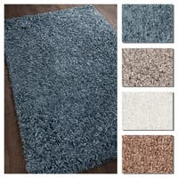 Artist's Loom Gia Collection Handmade Solid Pattern Shag Rug (7'9 x 10'6)