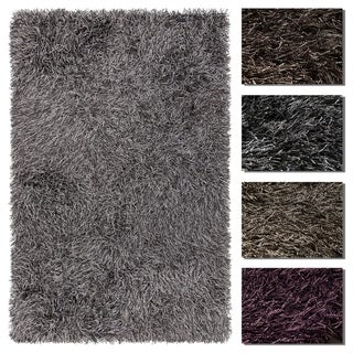 Artist's Loom Esther Collection Hand-Woven Abstract Pattern Shag Rug