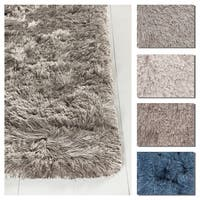 Artist's Loom Bloom Collection Hand-Woven Solid Pattern Shag Rug - 9' x 13'