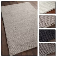 Artist's Loom Claudia Collection Hand-Woven Solid Wool Shag Rug