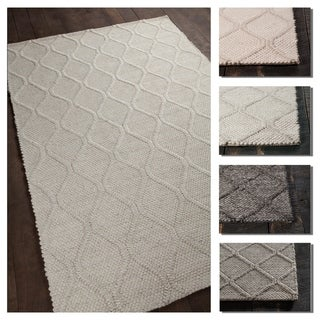 Artist's Loom Cathy Collection Hand-Woven Geometric Pattern Rug