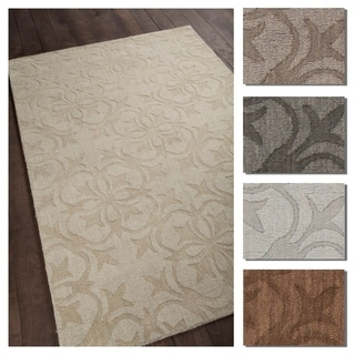 Artist's Loom Beryl Collection Hand-Tufted Floral Pattern Wool Rug