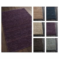 """Artist's Loom Bryanna Collection Hand-Woven Solid Pattern Casual Rug - 7'9"""" x 10'6"""""""