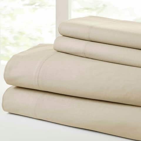 Modern Threads Vintage Washed Cotton 4-Piece Bed Sheet Set