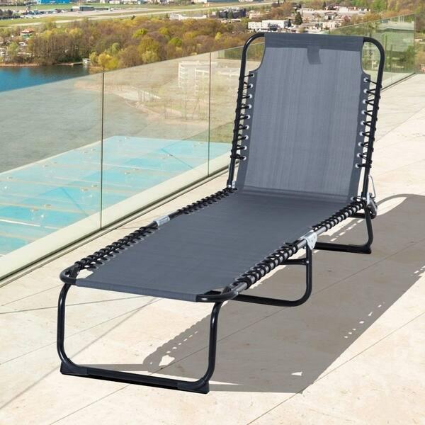 Reclining Beach Chair Chaise Lounge
