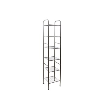InStyleDesign 6 Tier Shelving Unit - Satin Nickel