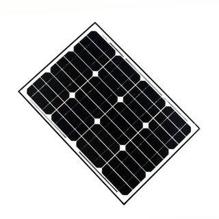 ALEKO Solar Panel Monocrystalline 50W Output Voltage 12V