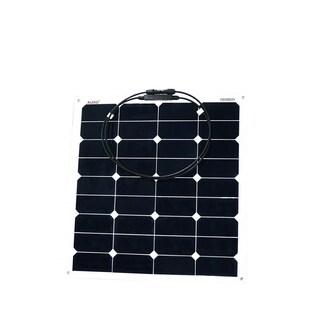 ALEKO Semi Flexible Solar Monocrystalline Panel 50W 12V