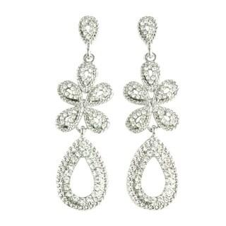 Classic Bridal Earrings Teardrop with Crystal