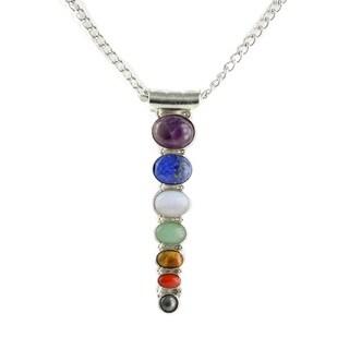 Chakra Multi Stone Necklace and Chakra Stretch Bracelet