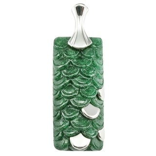 Unique Handcrafted Green Aventurine 925 sterling silver Necklace Pendant