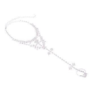 Barefoot Sandals Beach Foot Alloy Rhinestone Ankle Chain Anklet