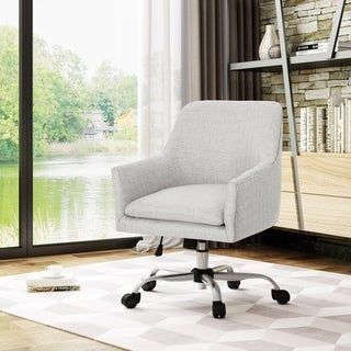 Johnson Mid Century Modern Fabric Home Office Chair with Chrome Base by Christopher Knight Home - N/A