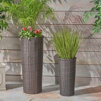 Lotus Wicker Planters (Set of 2) by Christopher Knight Home